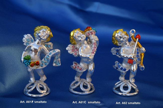 Prodotto: Angeli smaltati con cristalli Swarovski