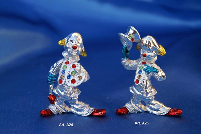 Prodotto: Clown smaltati con cristalli Swarovski