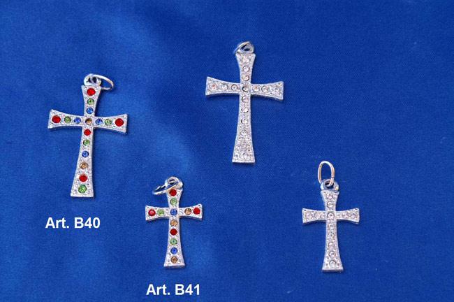 Prodotto: Croce con cristalli Swarovski