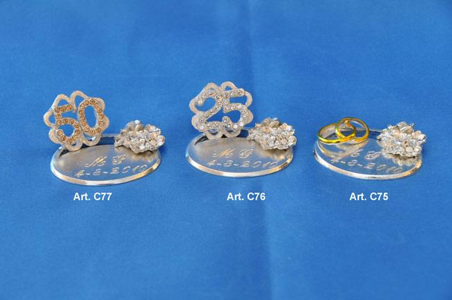 Prodotto: Base ovale per anniversario con cristalli Swarovski