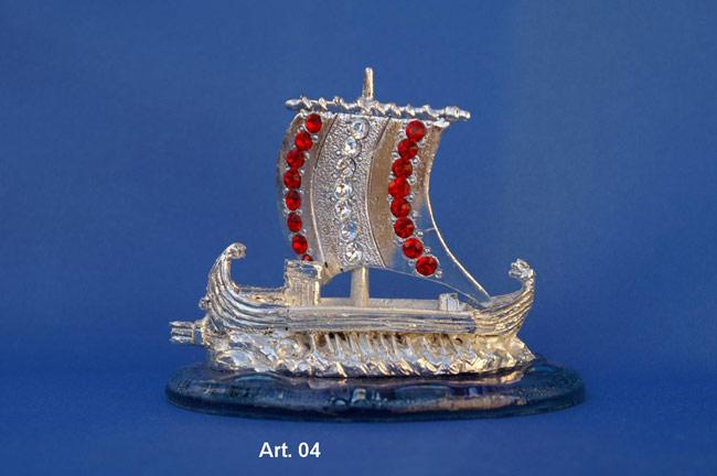 Prodotto: Nave romana con cristalli Swarovski
